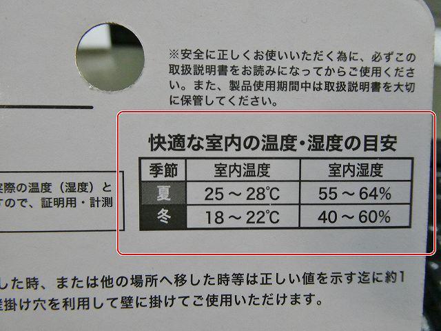 快適な室内温度と湿度の目安